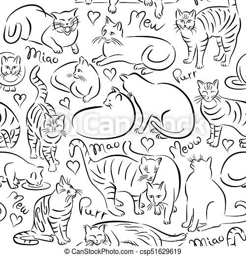 Cats Pattern - csp51629619