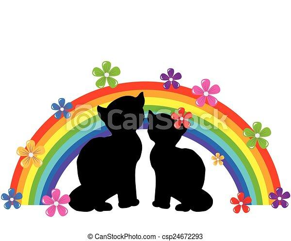 Cats Rainbow - csp24672293