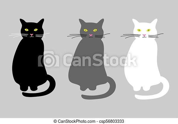 Cats set vector icon - csp56803333