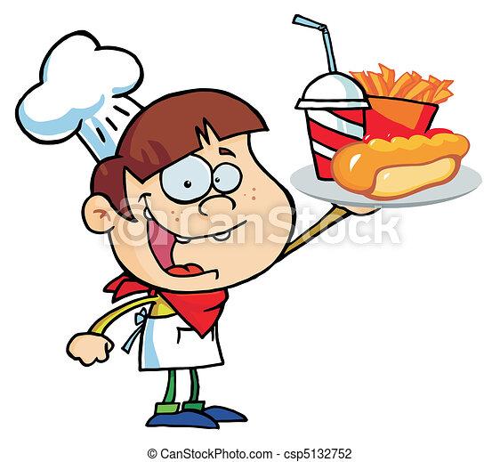 Caucasian Chef Boy - csp5132752