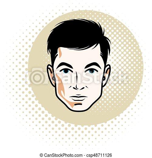 Cool Man Wearing Eyeglasses Vector Cartoon Clipart | k68158625 | Fotosearch