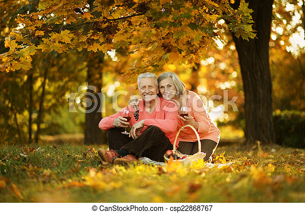 caucasian elderly couple - csp22868767