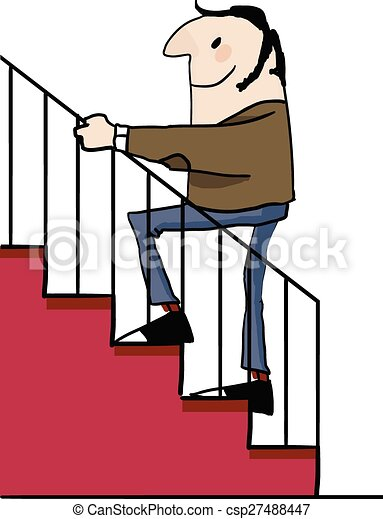 caucasian man going up the stairs adult male going up the eps rh canstockphoto ca stars clipart stars clip art black and white