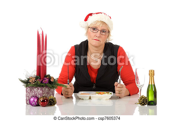 Lonely middle aged woman