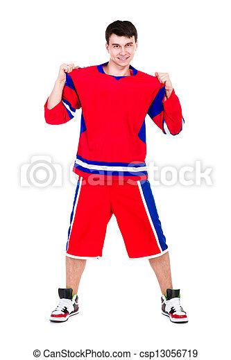 caucasien, séance entraînement, s'exercer homme, fitness - csp13056719