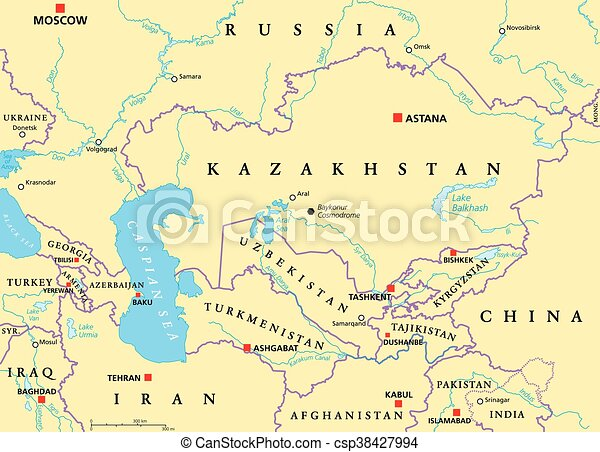 Caucasus And Central Asia Political Caucasus And Central Asia