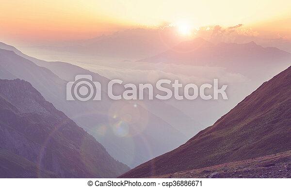 caucasus, berge - csp36886671