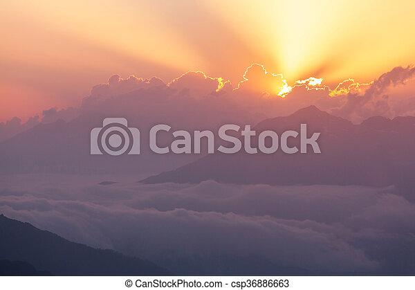caucasus, berge - csp36886663