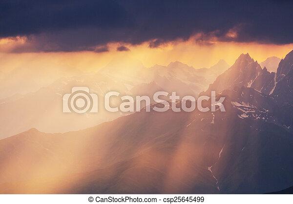 Caucasus mountains - csp25645499