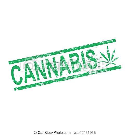 Un sello de goma cannabis - csp42451915
