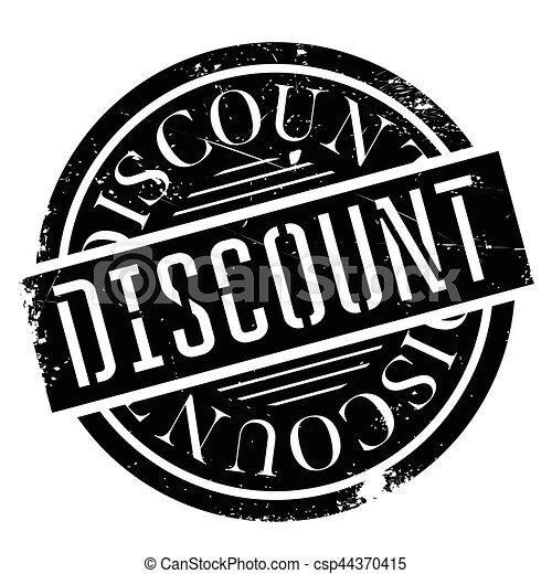 Un sello de goma de descuento - csp44370415