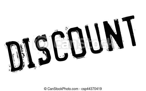 Un sello de goma de descuento - csp44370419