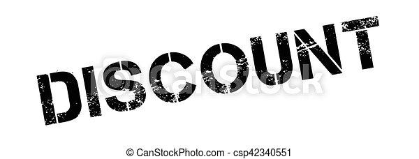 Un sello de goma de descuento - csp42340551