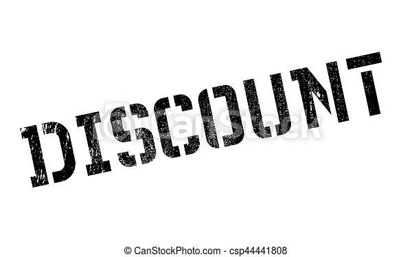 Un sello de goma de descuento - csp44441808