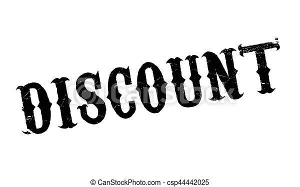 Un sello de goma de descuento - csp44442025