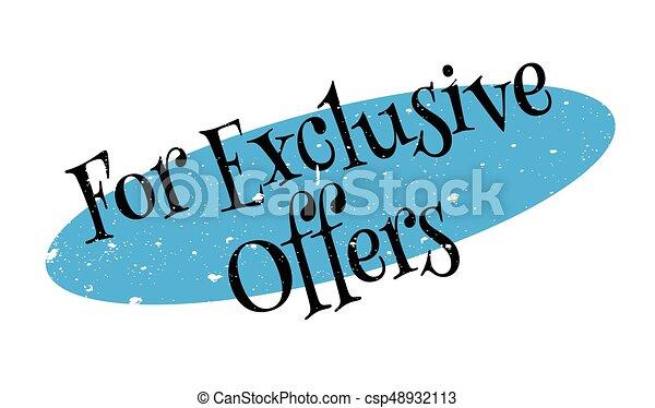 Para ofertas exclusivas de sello de goma - csp48932113