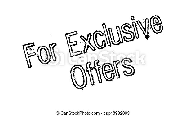 Para ofertas exclusivas de sello de goma - csp48932093