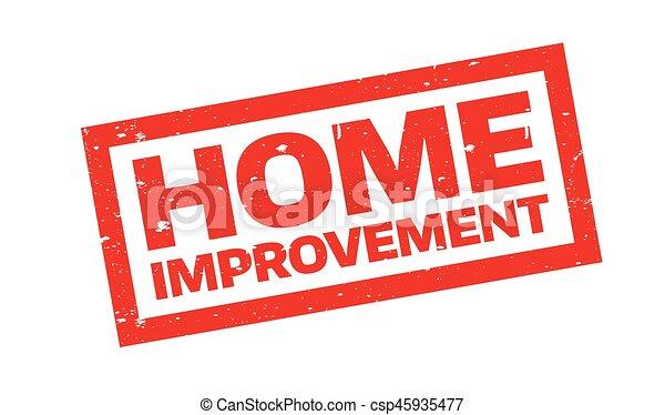 El sello de goma de mejora de casa - csp45935477