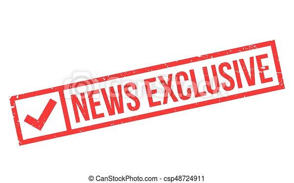 Noticias exclusivas del sello de goma - csp48724911