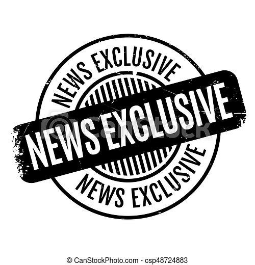 Noticias exclusivas del sello de goma - csp48724883