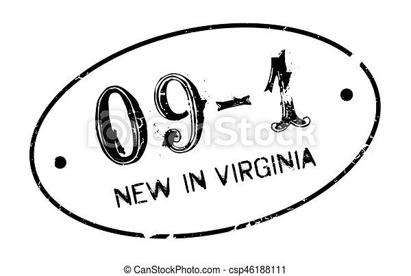 Nuevo en sello de goma de Virginia - csp46188111