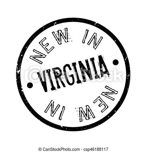 Nuevo en sello de goma de Virginia - csp46188117