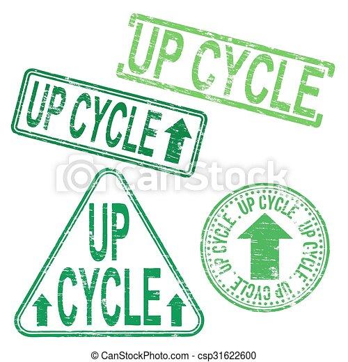 Un sello de goma en bicicleta - csp31622600