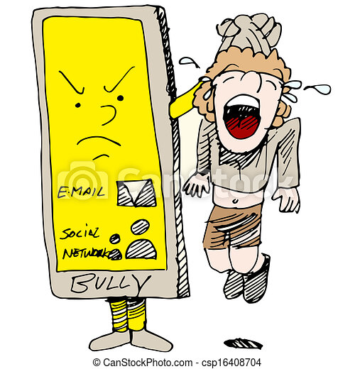 an image of a child caught cyber bullying vector clipart search rh canstockphoto com cyber bullying clipart Bullying Drawings
