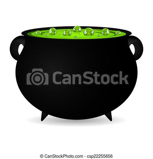 cauldron witches potion  - csp22255656