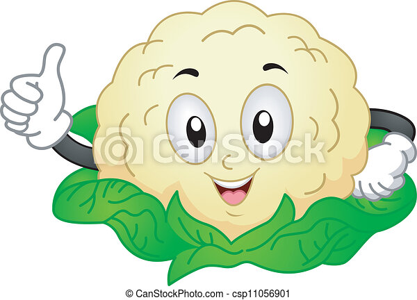 Cauliflower Mascot - csp11056901
