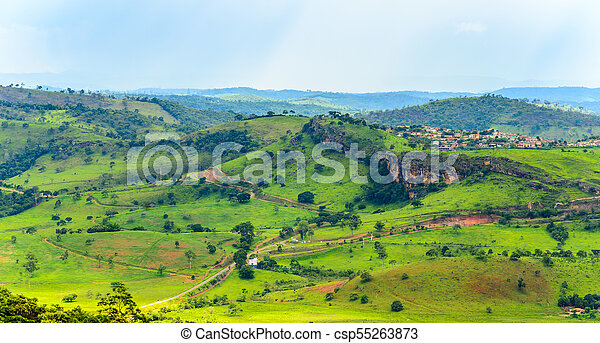 Cauntry side of the state of Minas Gerais , Brazil . Region in the area Diamantina and Sera . - csp55263873