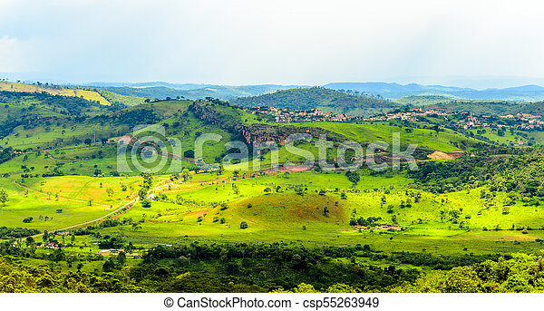 Cauntry side of the state of Minas Gerais , Brazil . Region in the area Diamantina and Sera . - csp55263949