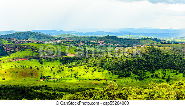 Cauntry side of the state of Minas Gerais , Brazil . Region in the area Diamantina and Sera . - csp55264000