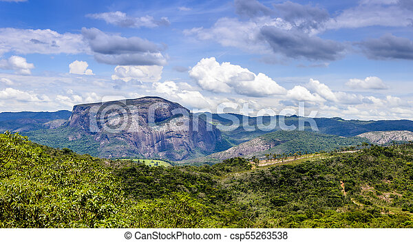 Cauntry side of the state of Minas Gerais , Brazil . Region in the area Diamantina and Sera . - csp55263538