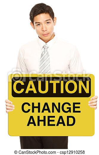 Caution: Change Ahead - csp12910258