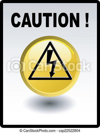 Caution - high voltage - csp22522804