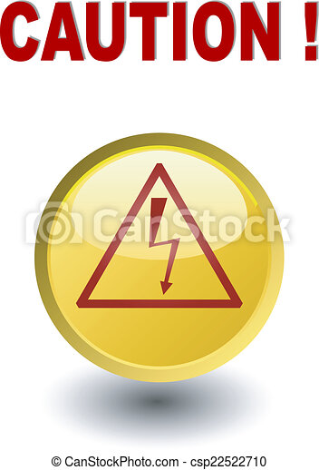 Caution - high voltage , yellow but - csp22522710