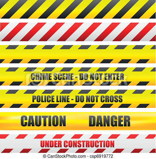 caution lines - csp6919772