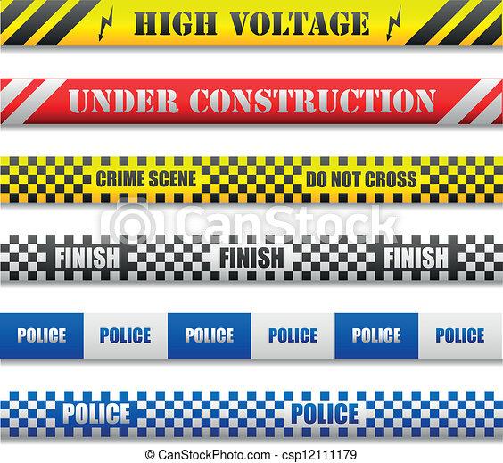 caution lines - csp12111179