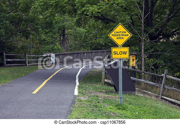 Caution - Pedestrian area - csp11067856