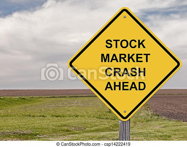 Caution Sign - Stock Market Crash Ahead - csp14222419