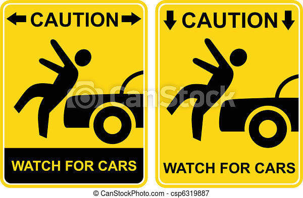 Caution - watch for cars. - csp6319887