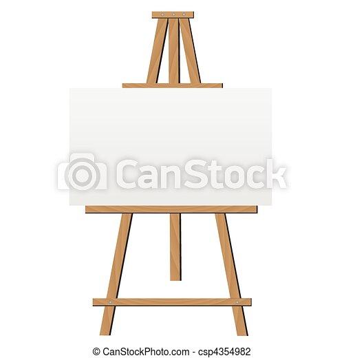 cavalete, ilustração - csp4354982