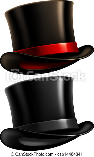 cavalheiro, chapéu superior - csp14484341