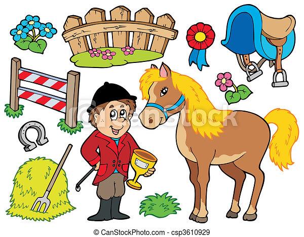 cavallo, collezione - csp3610929