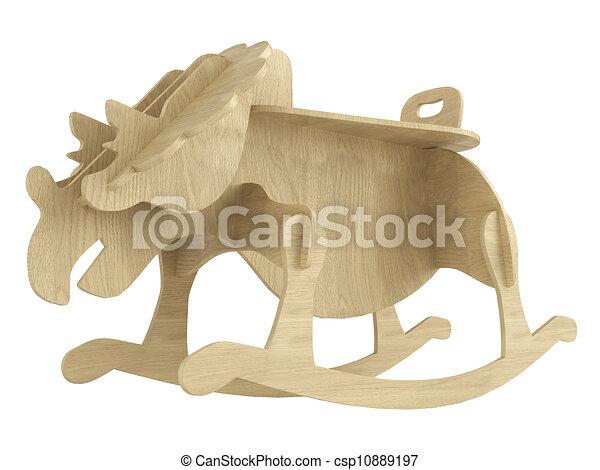 Cavallo oscillante legno stilizzato appartamento for Disegno cavallo stilizzato