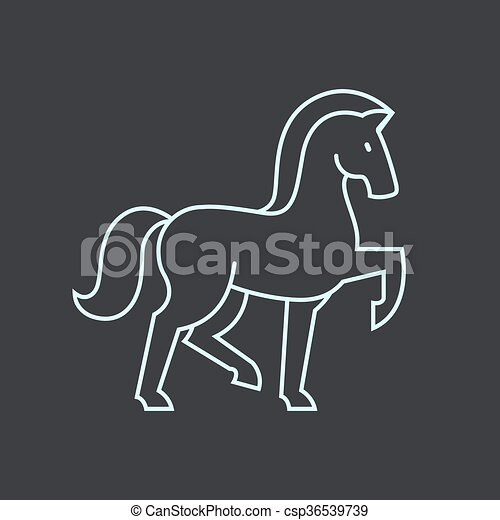 Cavallo Stilizzato Icona Cavallo Illustration