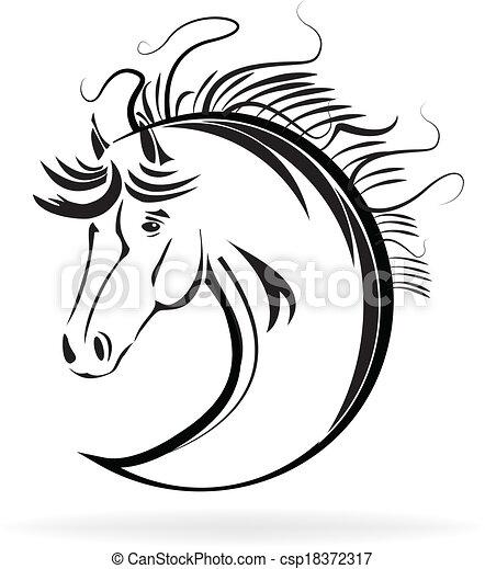 Cavallo stilizzato vettore schizzo icona cavallo for Disegno cavallo stilizzato