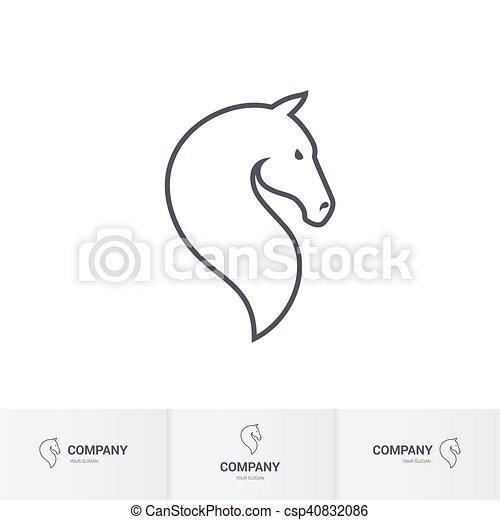 Cavallo testa stilizzato sagoma logotipo mascotte for Cavallo stilizzato