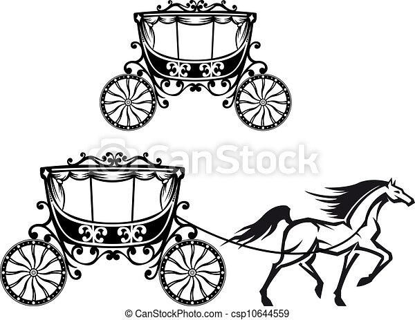 cavalo, antigas, carruagem - csp10644559